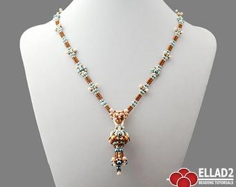 Tutorial Amalia Necklace-Beading Tutorial, Beading Pattern, Necklace Tutorials, Ellad2 designs