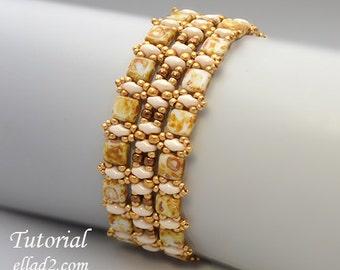 Tutorial Champagne Bracelet - Beading Tutorial, instant download, PDF, Beading pattern