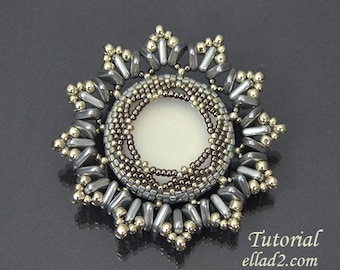 Tutorial Anais Brooch - Beading tutorial, instant download, PDF,Jewelry tutorials