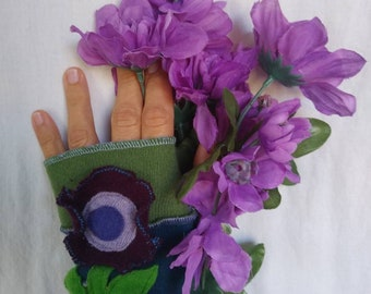 12+ Years Recycled Cashmere Arm Warmers Fingerless Gloves
