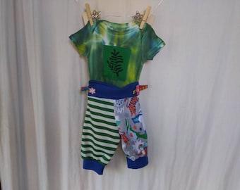 0-3 Months Baby Set Pant & Fern Onesie