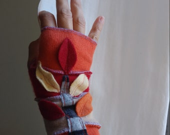 12 Years - Adult S/M Recycled Cashmere Arm Warmers Fingerless Gloves