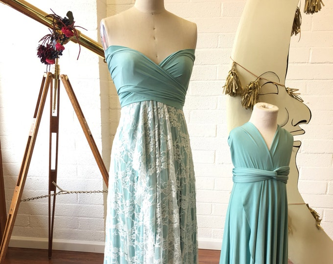 Sweetheart TULIP CUT Vintage Typewriter with Lace Octopus Wrap Dress~ No Train ~Wedding Gown, Bridesmaids, Maternity, Etc.