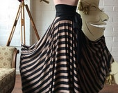 Coralie Beatrix Full Circle High Waist Sash Skirt~ Custom Choose Fabrics - Striped, Floral, etc.