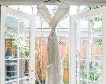 Bridal TULIP CUT Lace Octopus Wrap Dress~ with Train~ Custom combine Fabrics- Wedding Gown, Bridesmaids, Maternity, Etc.