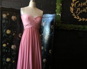 Rose Swissdot Lace Infinity Wrap Dress- Bespoke Polkadot Bride, Bridesmaids, Maternity, Formal