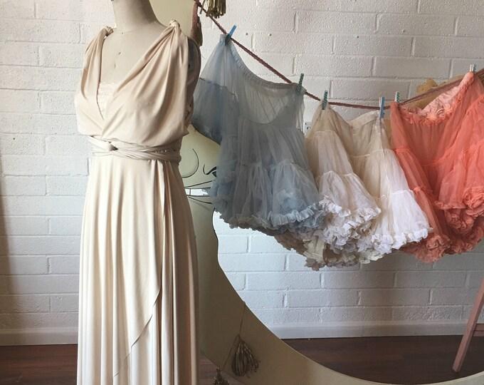 TULIP PETAL CUT~ Custom Choose Color Fabric, Size, and Length~  Long Octopus Infinity Wrap Gown~ Bridesmaids, Wedding, Maternity