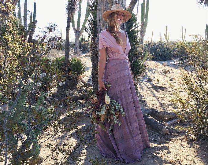 Coralie Beatrix Heather Dainty Ruffle Lace Infinity Wrap Dress- Custom Combine Strap Color~ Wedding Gown, Bridesmaids, Maternity, Etc.