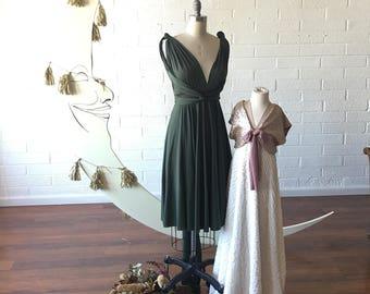 Short Classic Wrap Dress