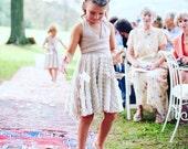 Girls Ruffle Short Circle Skirt  Infinity Twirl Dress- Custom Choose your fabrics- Holiday Dress, Flower Girl, Junior Bridesmaids,