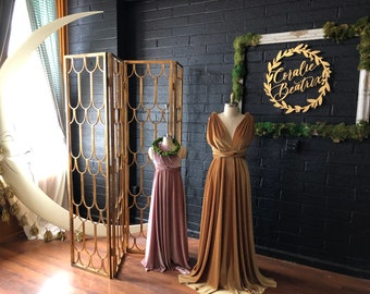 Velvet Long Infinity Wrap Gown Dress~ Gilded Gold, Teal, Grey, Burgundy, Dusty Lavender, etc. Bridesmaids, wedding guest, etc.