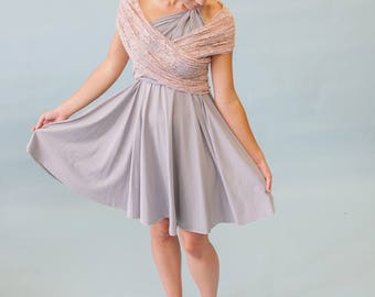 By the Sea~ Bridal Infinity Wrap Shawl, Stole, Bolero- Lace, Chiffon, Mesh- 4 way Stretch Fabrics