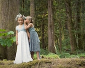 Girls Ruffle Convertible Wrap Dress-Long Infinity Twirl Dress-Aline Maxi- Choose any fabrics- Flower girl, Party Dress