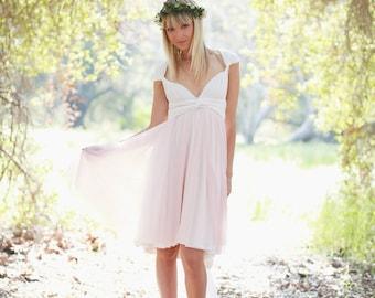 Short Chiffon Infinity Wrap Dress- Custom choose colors~ Pink Swan Tulle ~All Sizes~ Choose Hem cut-High/ Low, or Straight