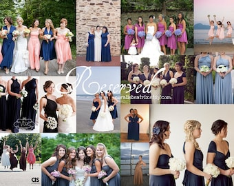 Reserved listing forJennifer's Wedding Party-6 Shiplap Grey Dresses