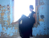 Black Lace TULIP CUT Lace and Satin Octopus Wrap Dress~ No Train ~Wedding Gown, Bridesmaids, Maternity, Etc.