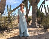 Tulip Cut with Double Layer Lace straps- Octopus Infinity Wrap Dress- Custom choose your fabrics! Desert Elopement, Wedding Guest