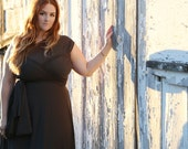 Speakeasy Charcoal Long Octopus Convertible Wrap Gown- All Sizes- Plus Size, Maternity