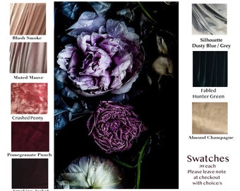 Swatch of Velvet Fabric for the Octopus Infinity Convertible Wrap Dress.99 cents PER Color Sample- Free Shipping in US