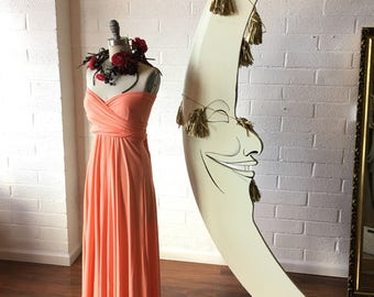 "Ready Made- Standard, 48"" long- Coral Reef~ Last of Fabric- Maxi Octopus Convertible Infinity Wrap Dress~ Bridesmaids, Maternity"