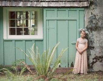 Girls Long Ruffle Convertible Wrap Dress~Octopus Infinity Twirl Dress-Aline Maxi-Choose any fabrics-Flower girl~Party Dress