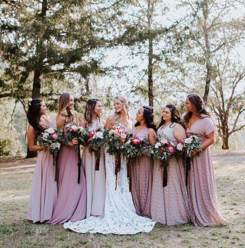 44c84b781a86 Coralie Beatrix Mismatched Bridesmaids Long Dress Choose your