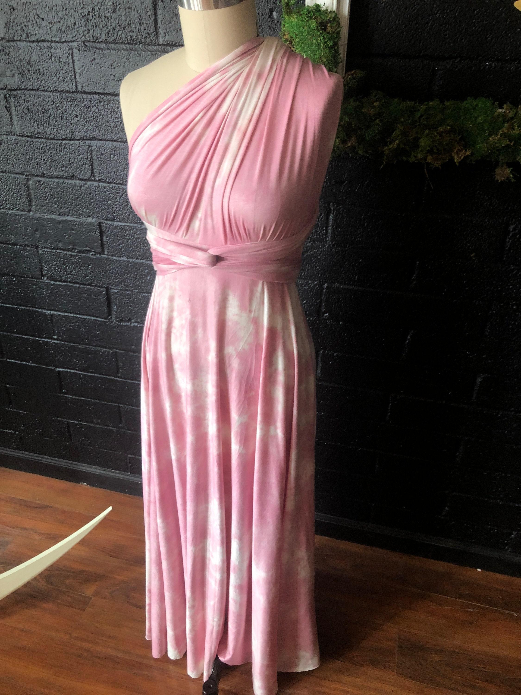 885feb00904 Spring Promo Fabric- Tie Dye Pink Modal Jersey- Print Maxi Octopus ...