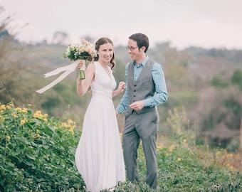 Bridal White Octopus Convertible Wrap Gown- Toga, Yoga Fabric, Wedding, bridal, bridesmaids,