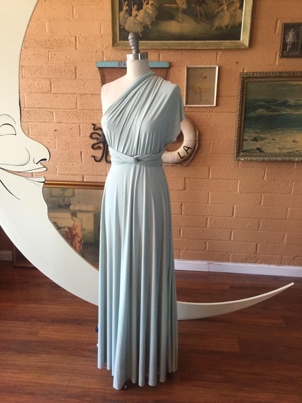 8a1f6fb59f6 Song of Sagebrush Maxi Infinity Convertible Wrap Dress~ Greyed Jade ...