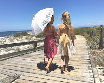 Lace Short Circle Skirt Child's Infinity Twirl Dress -Custom Fabrics- All Occasions