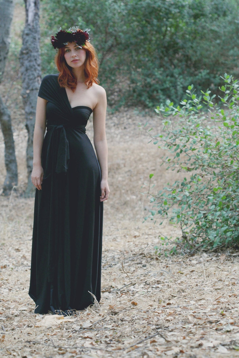 c9291bc6f Black Coral-Long Octopus Infinity Wrap Gown Bridesmaids | Etsy