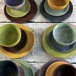 NEW Matte glazed, Organic, farm table Stoneware Dinnerware sets by Leslie Freeman