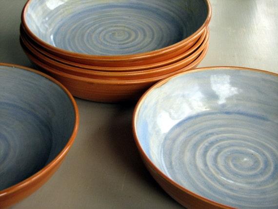 Ready To Shiphandmade Stoneware Pasta Bowls Stoneware