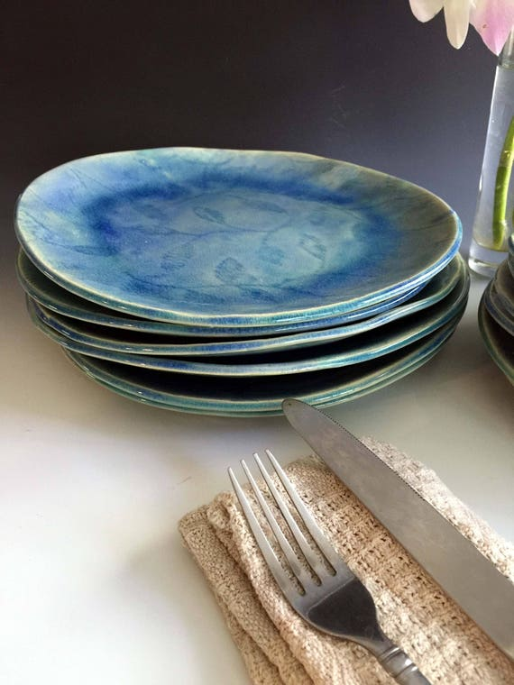Patterned Dinnerware Sets Place Settings By Leslie Freeman Etsy Delectable Patterned Dinnerware Sets