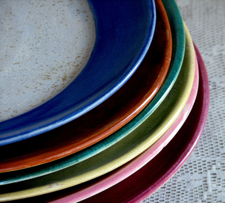 Handmade Stoneware Dinner Plates Wheel Thrown Dinnerware