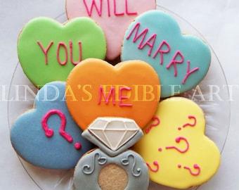 Will You Marry Me Cookies (1 Dozen)
