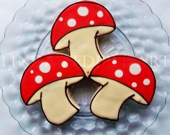 Mushroom Cookies ( 1 Dozen)