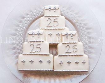 25th Anniversary Cake Cookies     1 Dozen (12)                                                                        w