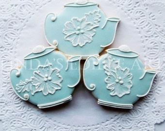 Vintage Wedgewood Teapot Cookies ( 1 Dozen)  12