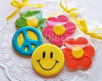 Smiley Face Peace Cookies 1 Dozen  (12)