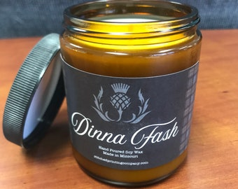 Dinna Fash, Outlander Inspired, All natural soy candles, made in the USA