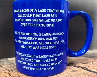 The Skye Boat song coffee mug, Outlander Inspired