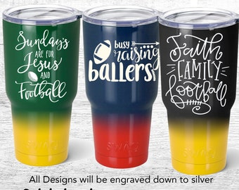 Football Tumblers, Busy Raising Ballers, Sundays are for Jesus and Football Tumbler, Faith Family Football, Packers, steelers, Patriots
