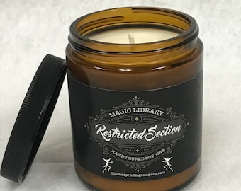 The Restricted Section, All natural soy candles, made in the USA