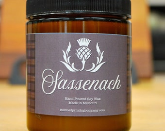 Sassenach, Outlander Inspired, All natural soy candles, made in the USA