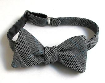 8e24c5252685 Men's Charcoal Glen Plaid Freestyle Bow Tie