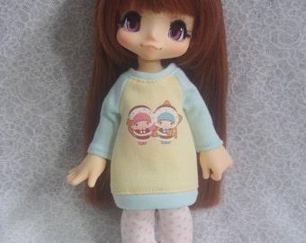 Azone Kikipop Baby Blue Sweater - Twin Stars