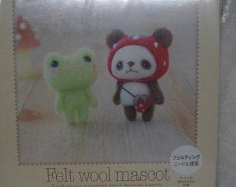 Hamanaka Felt Wool Needle Felting Craft Kit - Bear & Frog