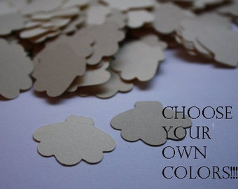 Choose your Color! 200 pieces Seashell Die Cut Confetti