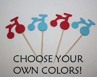 24 mini food picks - Tricycle - Choose your Colors!